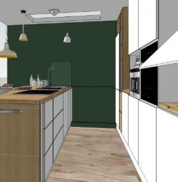 Réalisation d'une cuisine totalement équipée dans une maison sur deux niveaux