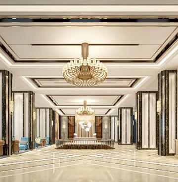 Architecture intérieure dans un hotel